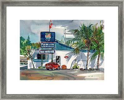 Padi Dive Shop Framed Print by Donald Maier
