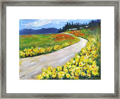 Framed Print featuring the painting Padilla Trail by Phyllis Howard