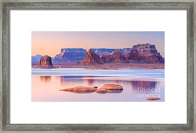 Padre Bay From Cookie Jar Butte Framed Print by Henk Meijer Photography