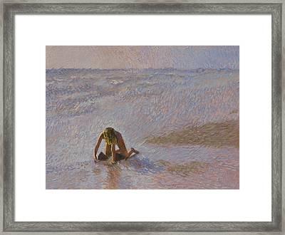 Padre Girl Framed Print by Robert Bissett