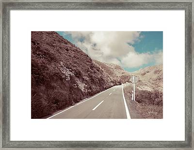 Framed Print featuring the photograph Paekakariki Hill Road by Joseph Westrupp