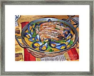 Paella Framed Print