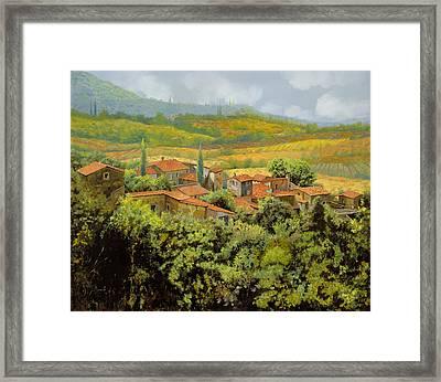 Paesaggio Toscano Framed Print by Guido Borelli