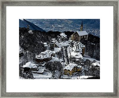 Paese Innevato Framed Print by Alex Colaianni
