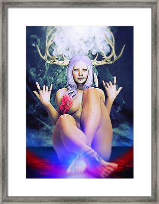 Framed Print featuring the painting Pagan Paradise by Baroquen Krafts