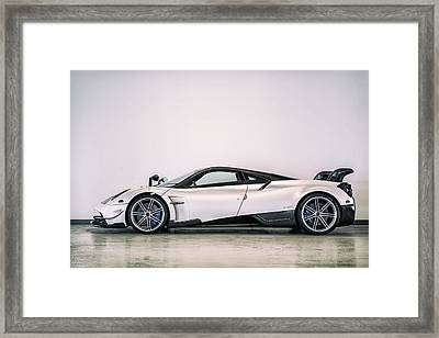 Framed Print featuring the photograph #pagani #huayra Bc by ItzKirb Photography