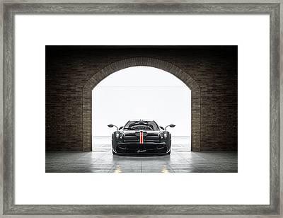 Pagani Huayra La Monza Lisa Framed Print