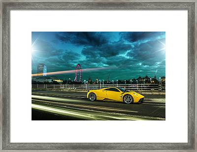 Pagani Huayra London Framed Print