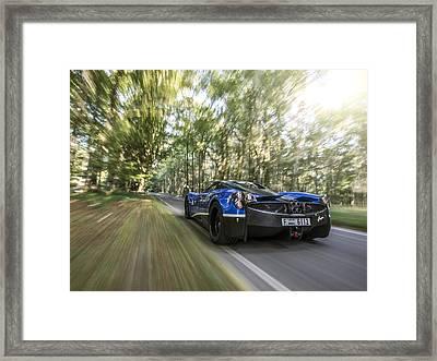 Pagani Huayra Road Trip Framed Print