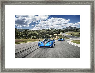 Pagani Zonda Hh And Koenigsegg Agera Hh Framed Print