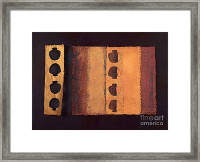 Framed Print featuring the mixed media Page Format No 3 Tansitional Series   by Kerryn Madsen-Pietsch