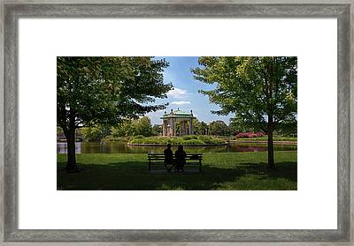Framed Print featuring the photograph Pagoda Circle Interlude by Susan Rissi Tregoning