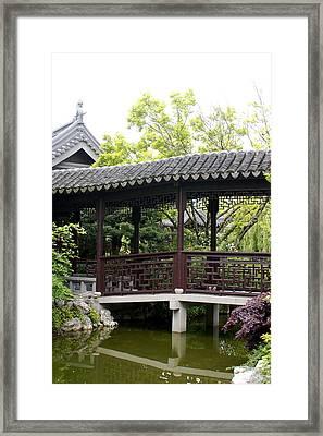 Pagoda Framed Print by Sonja Anderson