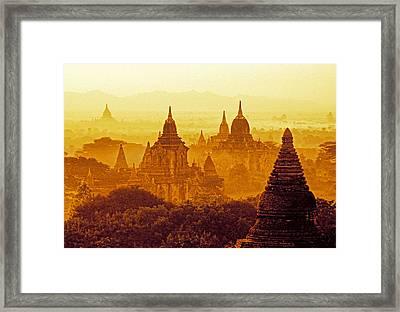 Pagodas Framed Print by Dennis Cox WorldViews