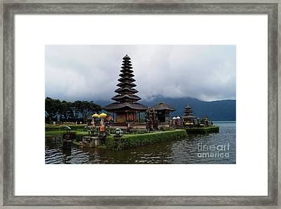 Pagoda In Bali Island. Water Temple Framed Print