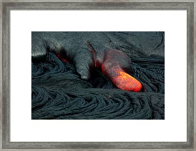Pahoehoe Lobe Framed Print by Craig Ellenwood