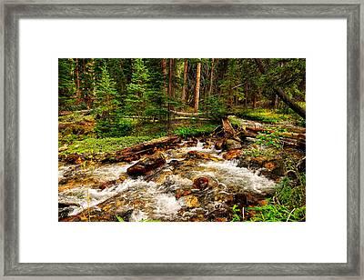 Pahsimeroi Cascades Framed Print