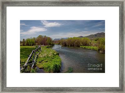 Pahsimeroi River Framed Print