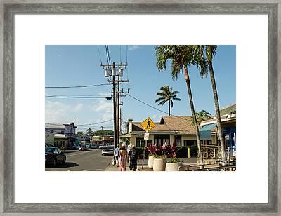 Paia Maui Hawaii Candid Street Photography Framed Print