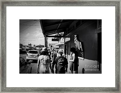 Paia Maui Hawaii Street Photography Framed Print