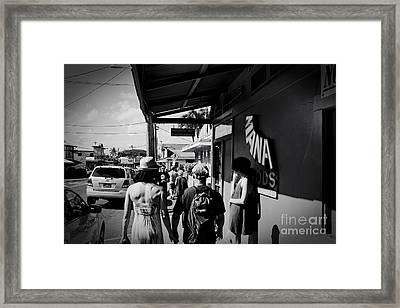 Paia Maui Hawaii Street Photography Framed Print by Sharon Mau