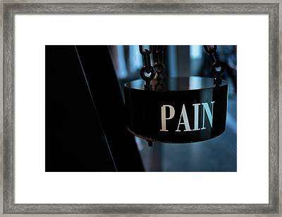 Pain Framed Print by Jean Gill