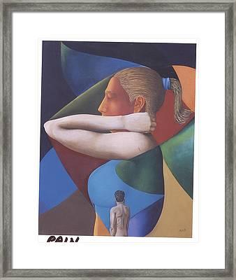 Pain Framed Print by Mak Art