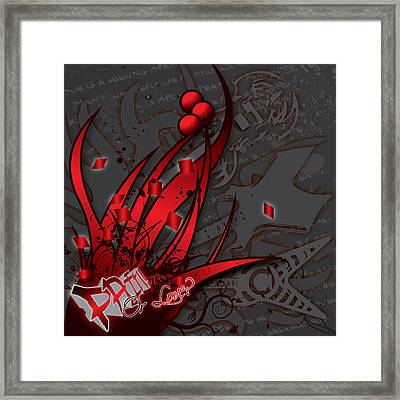 Pain Or Love Framed Print by Devin Green
