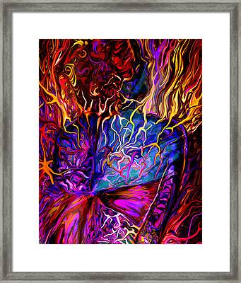 Pain Slow Death Five Framed Print by Karen Musick