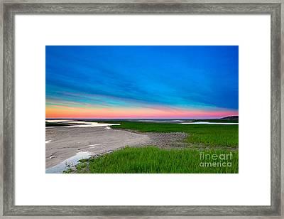 Paines Creek Sunset Cape Cod Framed Print by Matt Suess