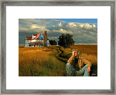 Painful Memories Of The Past Framed Print by Julie Grace