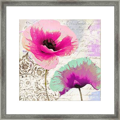Paint And Poppies II Framed Print