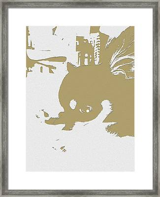 Cutie Framed Print by Roro Rop