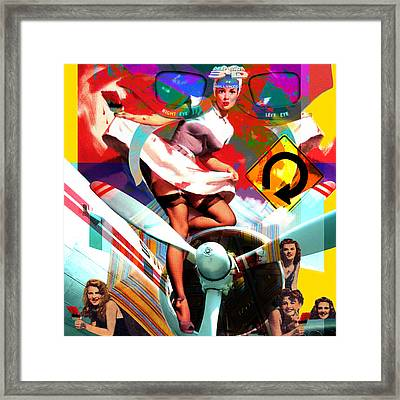 Paint Brush Girls Framed Print by Robert Anderson