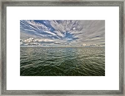 Paint Brush Sky - Ft Myers Beach Framed Print