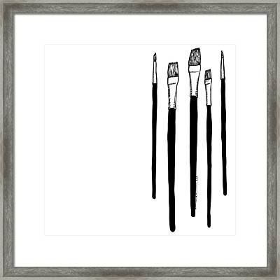 Paint Brushes Framed Print by Karl Addison