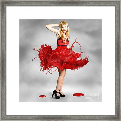Paint Dress Pin-up Framed Print by Jorgo Photography - Wall Art Gallery