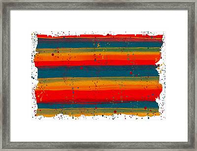 Paint It Serape Framed Print
