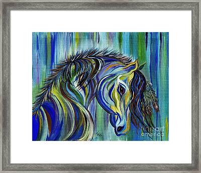 Paint Native American Horse Framed Print