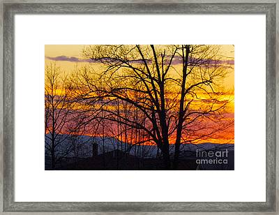 Paint Night Sunset Framed Print by Alice Mainville