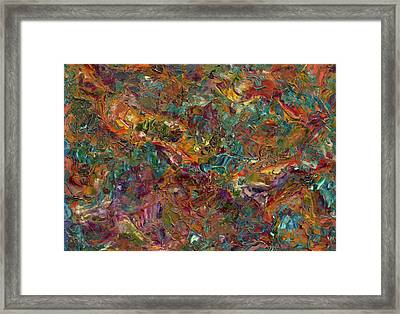 Paint Number 16 Framed Print by James W Johnson