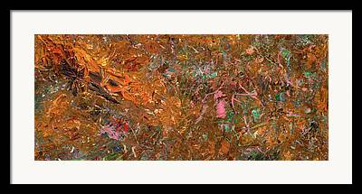 Raw Sienna Framed Prints