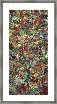 Paint Number 21 Framed Print by James W Johnson