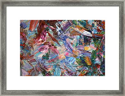 Paint Number 42-b Framed Print by James W Johnson