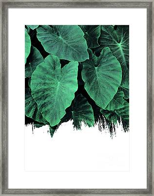 Paint On Jungle Framed Print