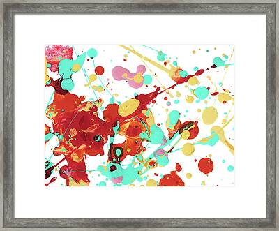 Paint Party Framed Print by Amy Vangsgard