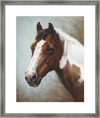 Paint Portrait Framed Print