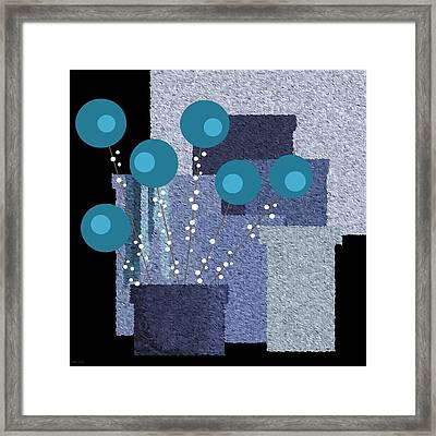 Paint Pots And Flowers Framed Print