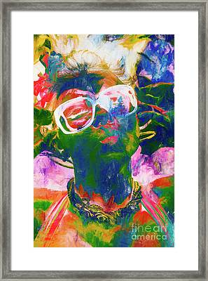 Paint Splash Pinup Art Framed Print
