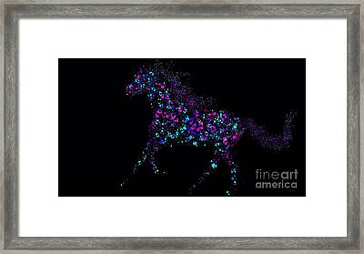 Framed Print featuring the painting Paint Splattered Pony by Nick Gustafson